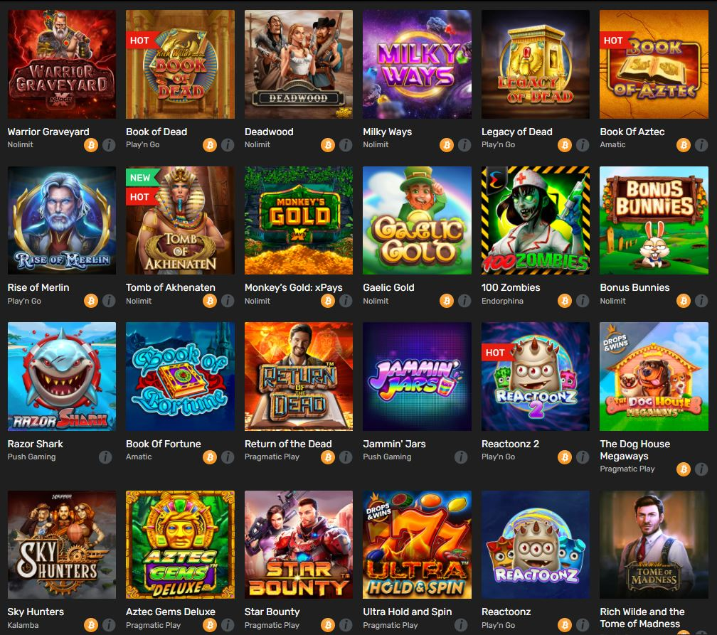 All Slots in Winz Casino